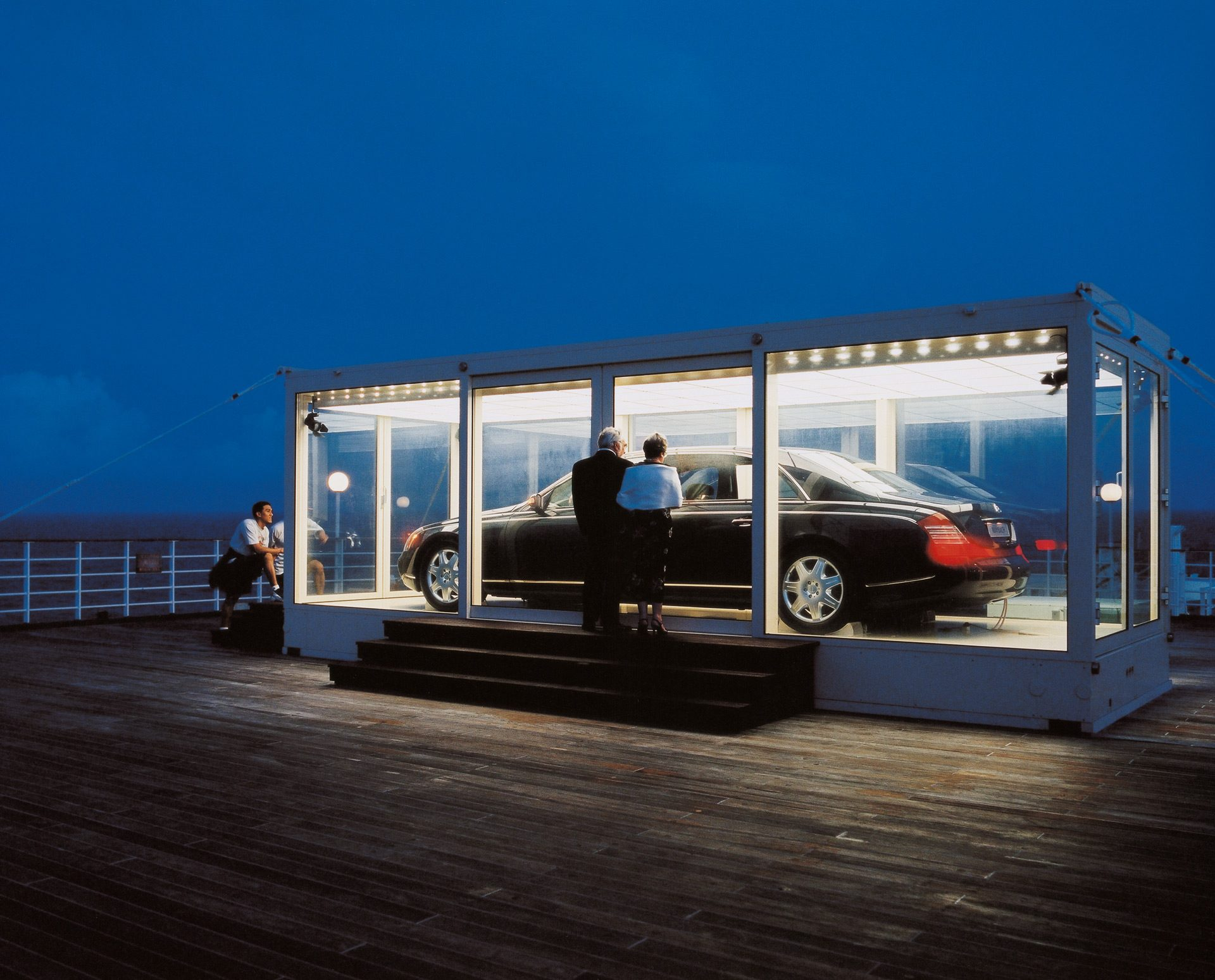 maybach suspended from helicopter - new york | osk marketing & comm