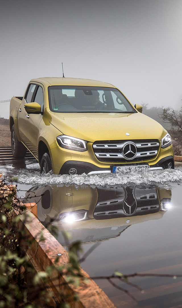 Mercedes-Benz X-Class test drive experience in Santiago, Chile