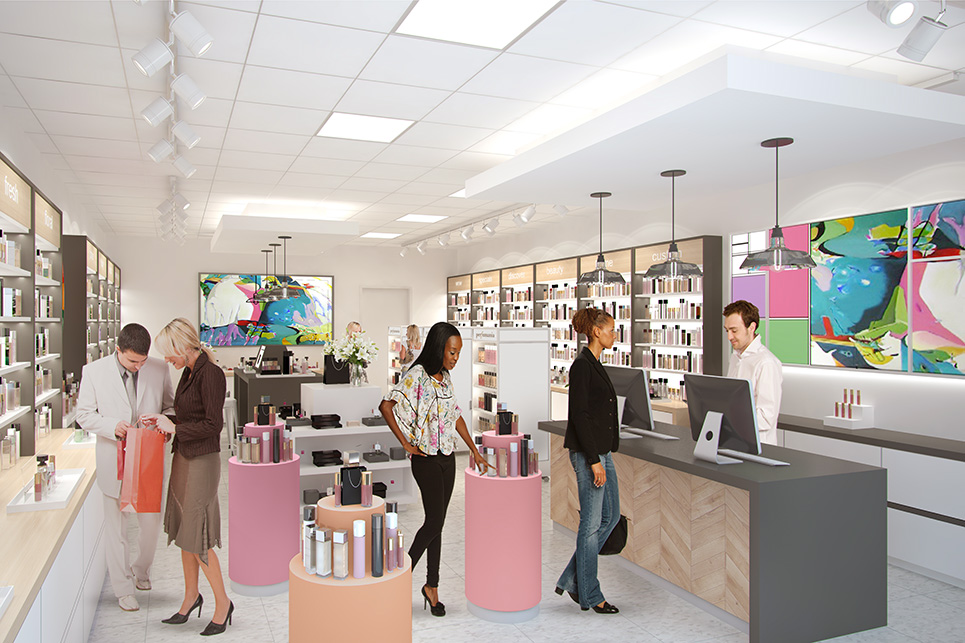 Perfumania Retail Store Concept Rendering